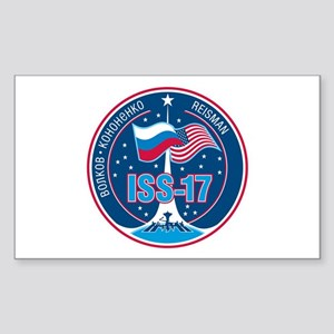 Expedition 17 Logo Sticker (Rectangle)